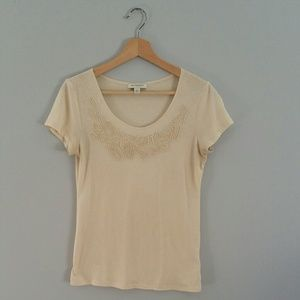 Banana Republic Short Sleeve Embroidered Tee Sz S